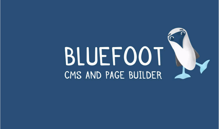 Bluefoot cms and page builder