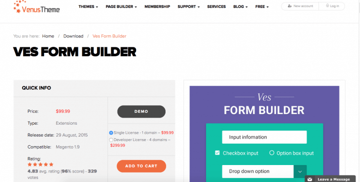 Ves Form Builder for Magento