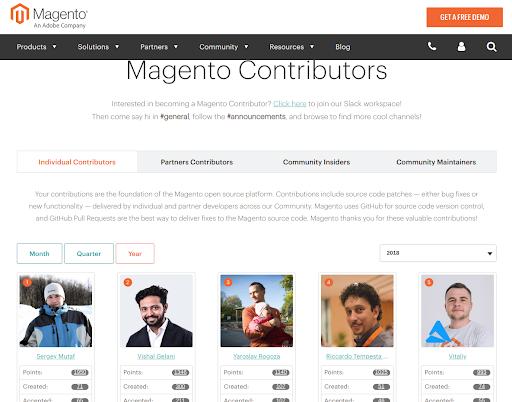 50 Magento Contributors in 2018