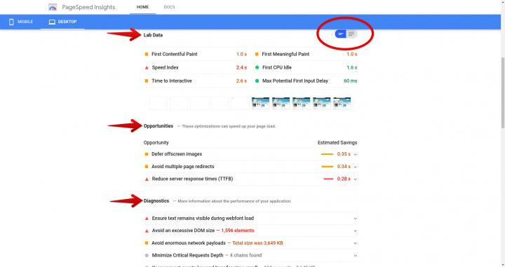 Page speed insights metrics speed up magento