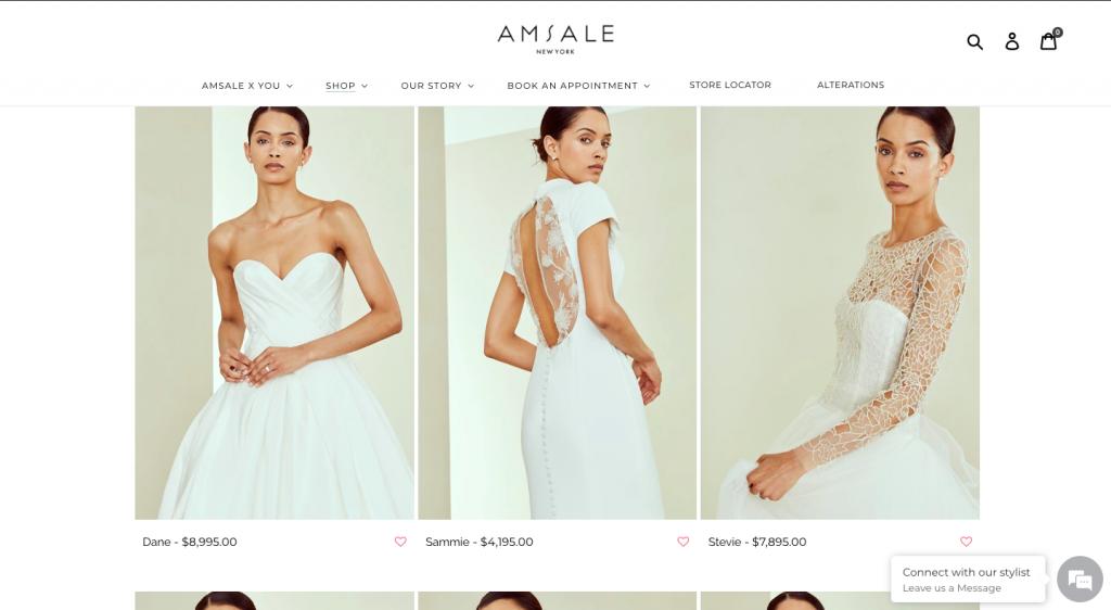Amsale shop