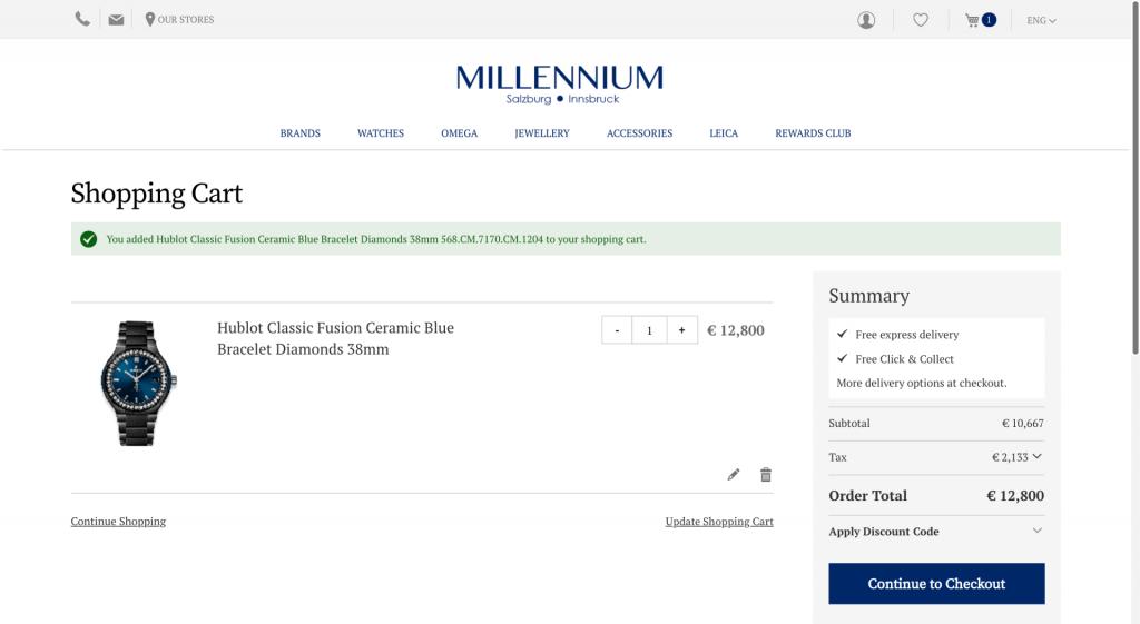 Millennium check-out
