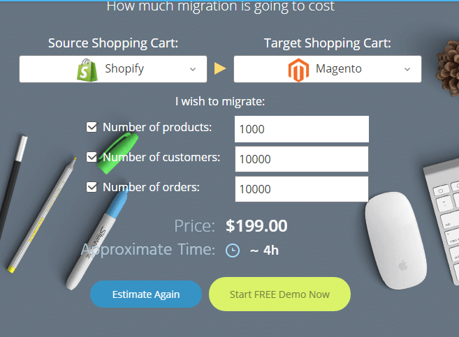 Platform migration Shopify to Magento
