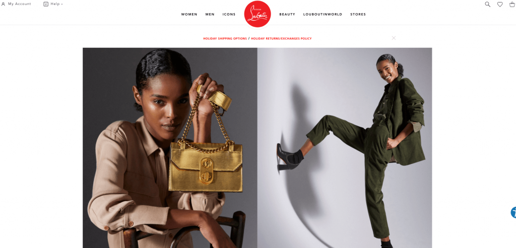 Christian Louboutin store on Magento Open Source