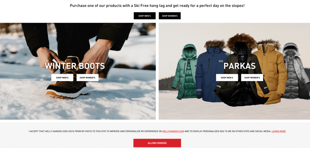 Helly Hansen store on Magento Commerce Cloud