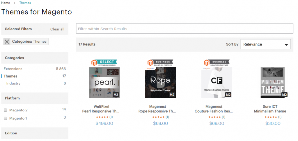 Magento Template Marketplace