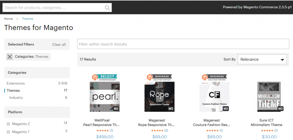 Magento Theme Marketplace