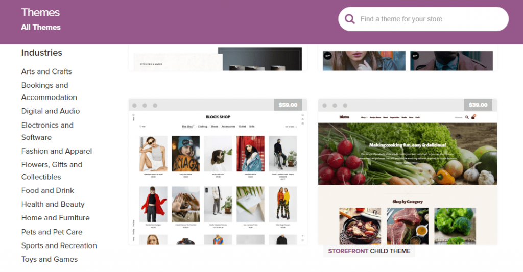 WooCommerce Themes Marketplace