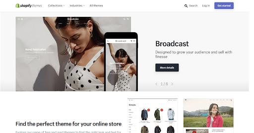 Shopify themes marketplace