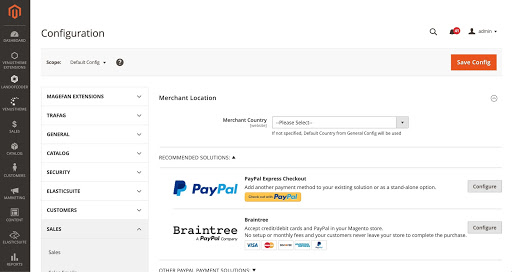 Payment configurations on Magento