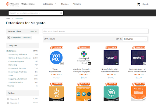 Magento extension marketplace