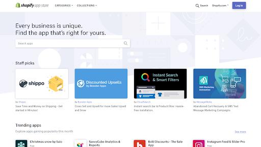 Shopify apps marketplace