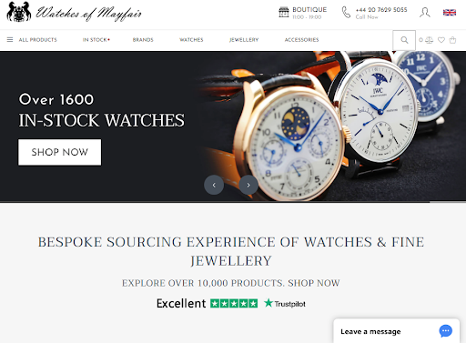 Watches of Mayfair home page