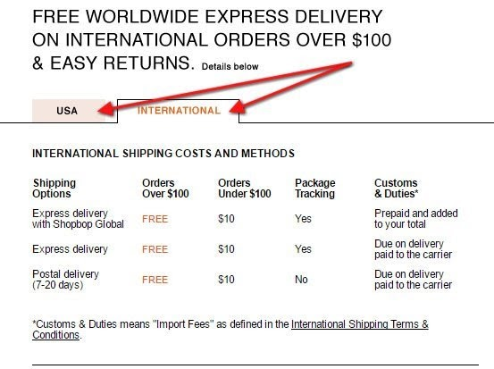 An example of a return policy.