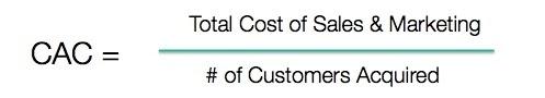Customer Acquisition Cost formula