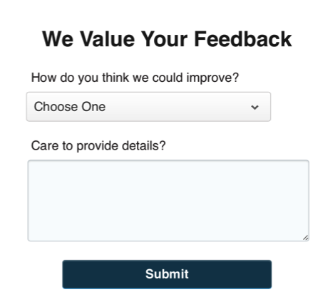 Example of an NPS survey campaign