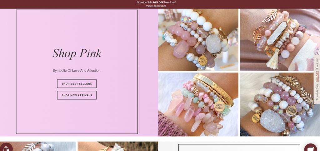 Kinsley Armelle website screenshot