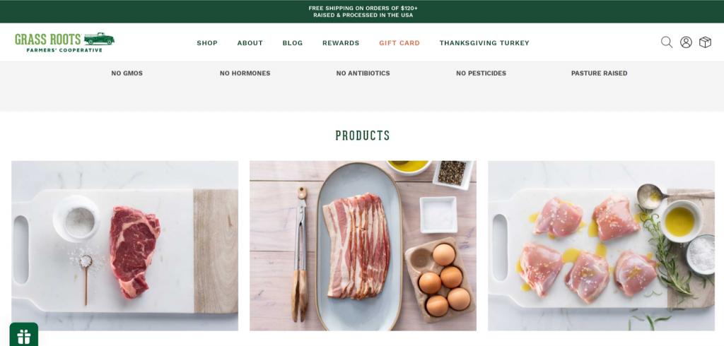 Grassroots Coop website screenshot