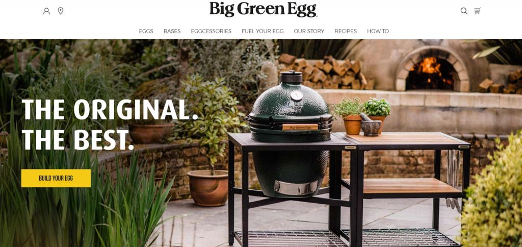 Big Green Egg website screenshot