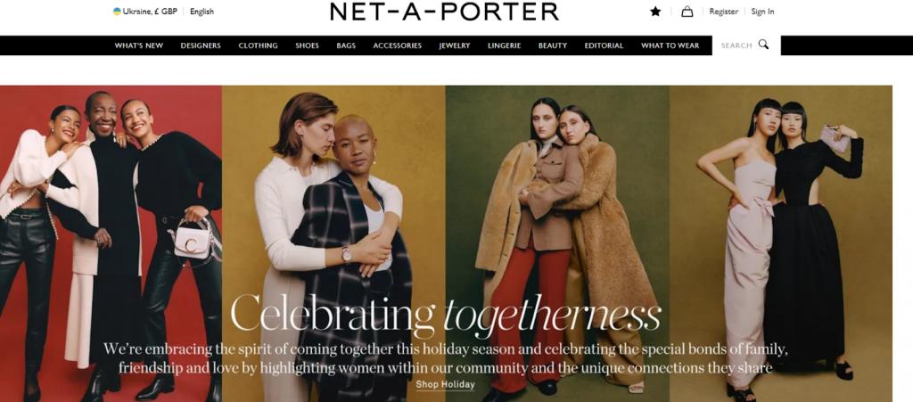 Net-a-Porter website screenshot