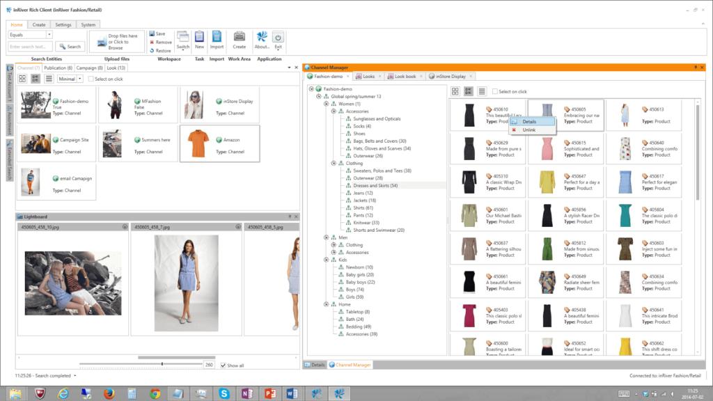 inRiver PIM system screenshot