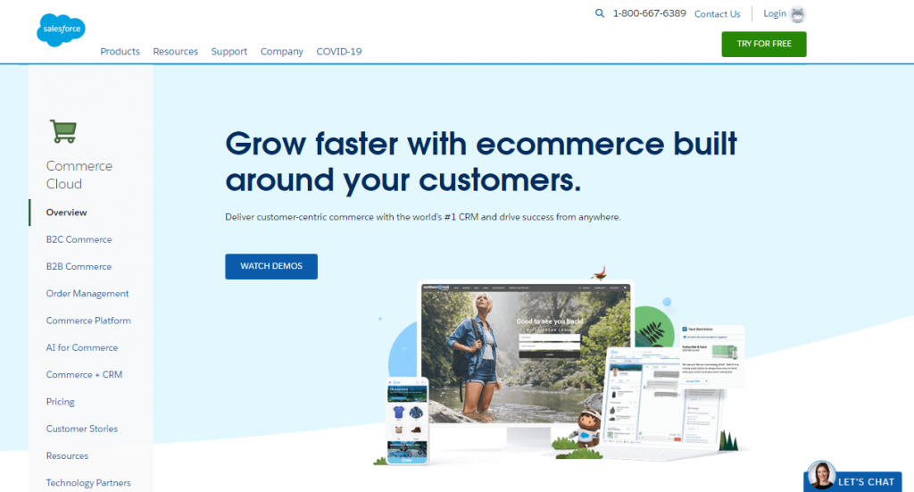 Salesforce homepage screenshot.