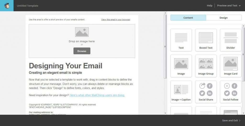 Creating a MailChimp targeted email