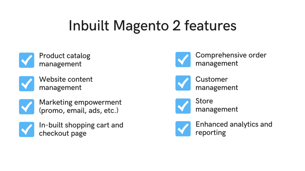 Built-in Magento 2 features for Magento omnichannel.